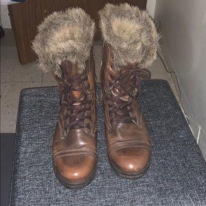 Steve Madden Cognac Tundra Snow Boots